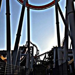 silverbullet rollercoaster themepark knottsberryfarm bluehour californialove mymind myeye bchez photography edit