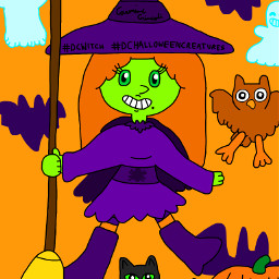 halloween halloweencreatures witchgirl witch blackcat dcwitchy dchalloweencreatures