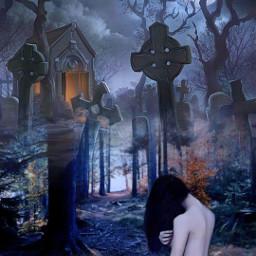 freetoedit friend pose graveyard mysticker