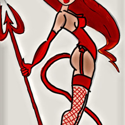 freetoedit mydrawing devil halloween girl dchalloweencreatures