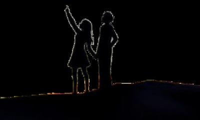 black boyandgirl silhouette friends freetoedit