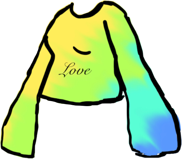Rainbow tie dye gacha shirt #gachalife #shirtdesign #freetoedit