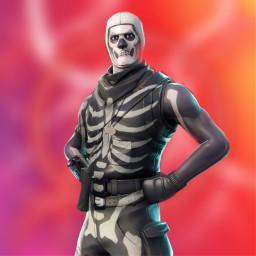 freetoedit skull skulltrooper fortnite edit