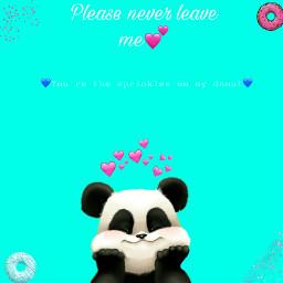 donuts sprinkles panda love freetoedit