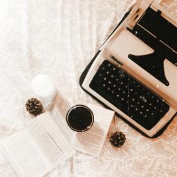 freetoedit retro typewriter coffee