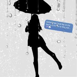 rainydays umbrellagirl singingintherain freetoedit ecrainyseason rainyseason