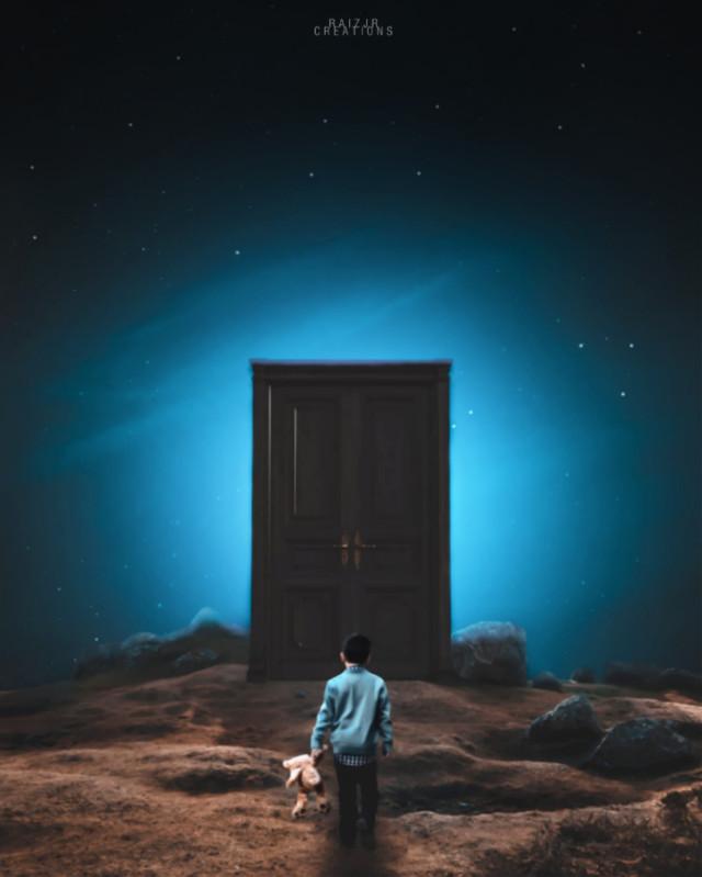 The lost Door.   #freetoedit #picsart #madewithpicsart #editing #art #stepbystep #visual #visualart #surreal #surrealart