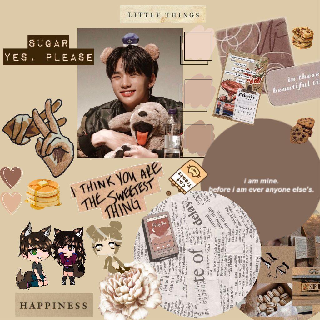 .. my handsome prince ♥️ #hwanghyunjin #hyunjin_straykids  #straykids #littlethings  #simple #brown #handsome #prince #lama #hyunie #freetoedit