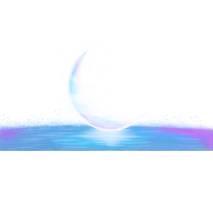 ftestickers moon crescent water reflection freetoedit