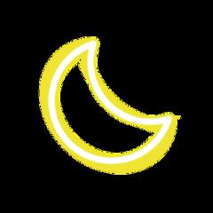 ftestickers sky moon crescent luminous freetoedit