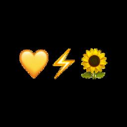 emoji emojicombo yellow heart yellowheart freetoedit