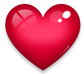 heart love neon red crystal freetoedit