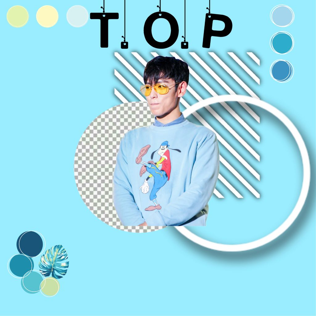 #freetoedit T.O.P  #bigbang#top#blue#aestetic#happybirthday
