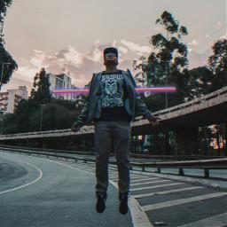 freetoedit levitation guy 4asno4i neon ftestickers