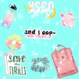 freetoedit vscogirl hydroflask scrunchie