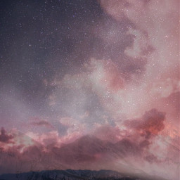 freetoedit beautiful sky stars clouds like love moon mountain mountains pink edit work myedit photography photo people picture remixme picsart galaxy follow