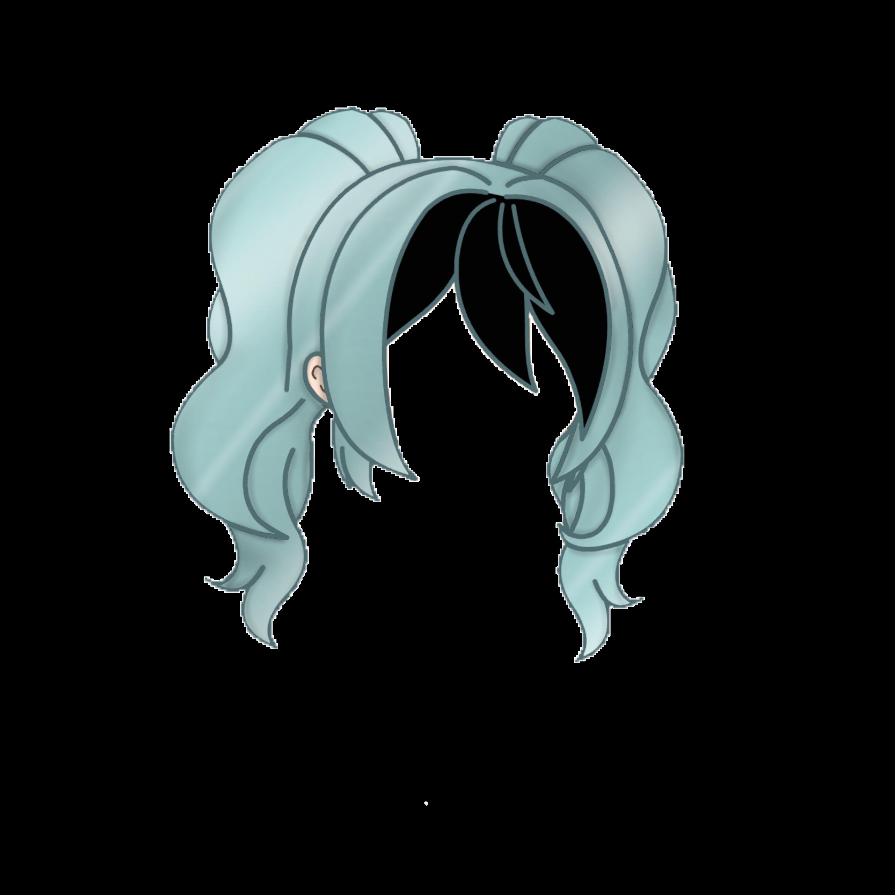 Anime Girl Hair Colors: Gacha Gachalife Hair Hairstyle Gachahaur Girlhair Freet