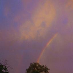arcoiris rainbows cielo sky atardecer freetoedit