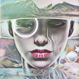 freetoedit popfantasy highlightmagiceffect oilpaintingeffect surrealism scifi sci srcgalaxycrown