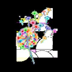 freetoedit rainbow dandelion