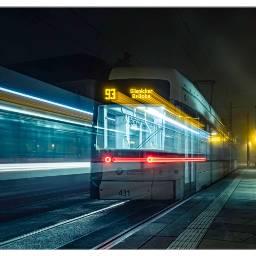 tram lighttrails potsdam nightphotography longtimeexposure freetoedit