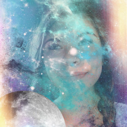 freetoedit galaxy moon lenseflare
