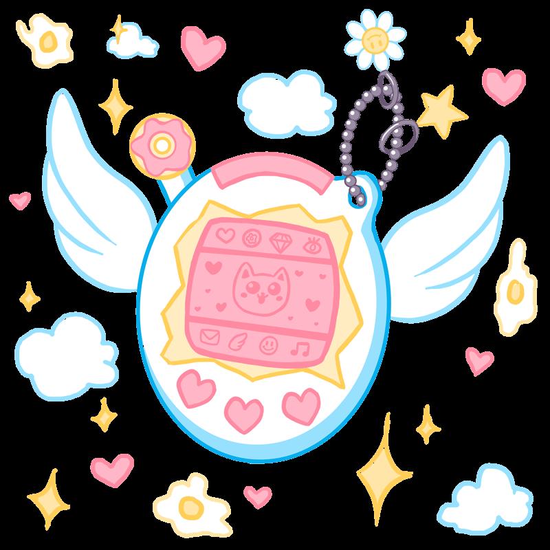 #freetoedit #tamagotchi #cute #pixels #pixelart #kawaii #harajuku #toy #angelwings #games #nostalgia #childhoodmemories #freetoedit