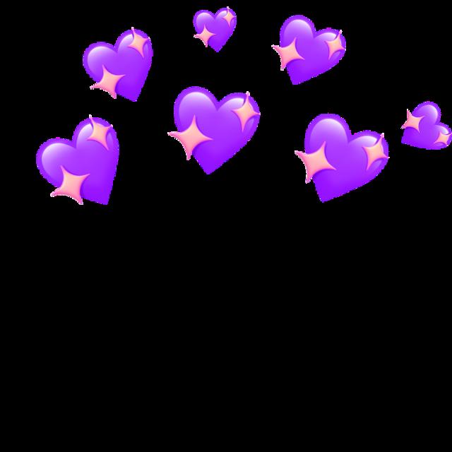 Heart crown 💜💖 #heartcrown #wholesome #love #aesthetic #hearts #purple #cute #romantic #freetoedit