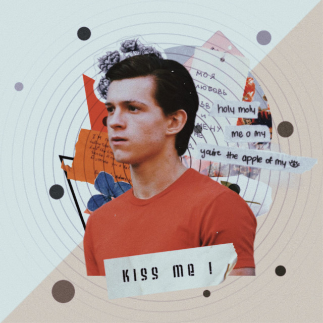 💙💙💙  #freetoedit #tomholland #aesthetic #aestheticedit #vintage #collage #vintagestyle #collageedit