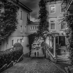 freetoedit blackandwhite streetphotography hdr clouds city