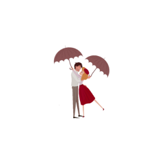 couple love hug romance rain freetoedit