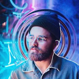 man neon neonlights neonbackground neonboy freetoedit