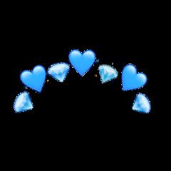 freetoedit crown blue dimond heart ftestickers