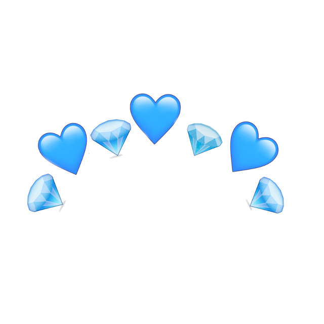 #freetoedit #crown #blue #dimond #heart #emoji #cute #aesthetic #crystal #snow #winter #ftestickers #remixit