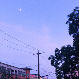 photo photography purple sky pretty nature moon poem freetoedit