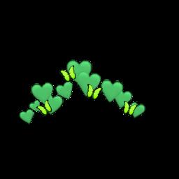 heart emoji butterfly green crown freetoedit ftestickers