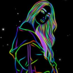 freetoedit drawover neon inverteffect picsart ircpose