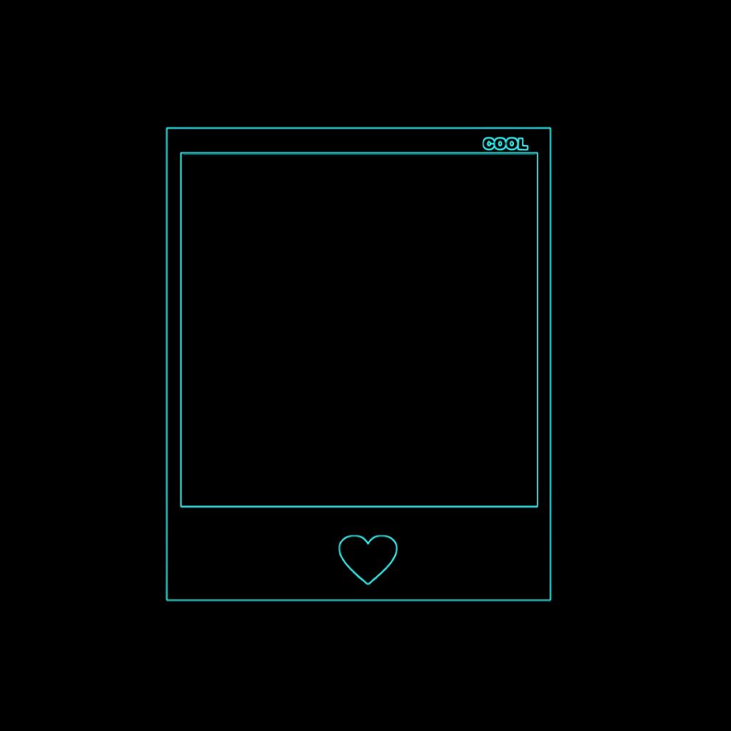 #Polaroid #neon #neonpatone #blackneon #neonframe #remixit [ neon black Polaroid frame ] #top #cool