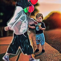 freetoedit caminando balloons boy carretera ircwalkingby walkingby