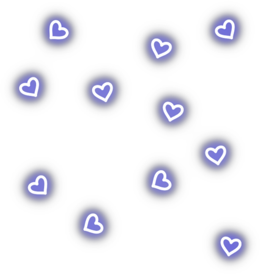#neon #hearts #blue #bluehearts #freetoedit