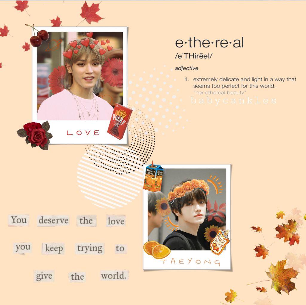 #freetoedit ❤️Taeyoung polaroid Edit🧡 #taeyong#NCT#cute#polaroid