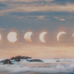 freetoedit painting moon lunarphases river