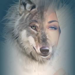 vipshoutout surreality doubleexposure wolfqueen parteditpartdraw picsart madewithpicsart freetoedit freetoedit