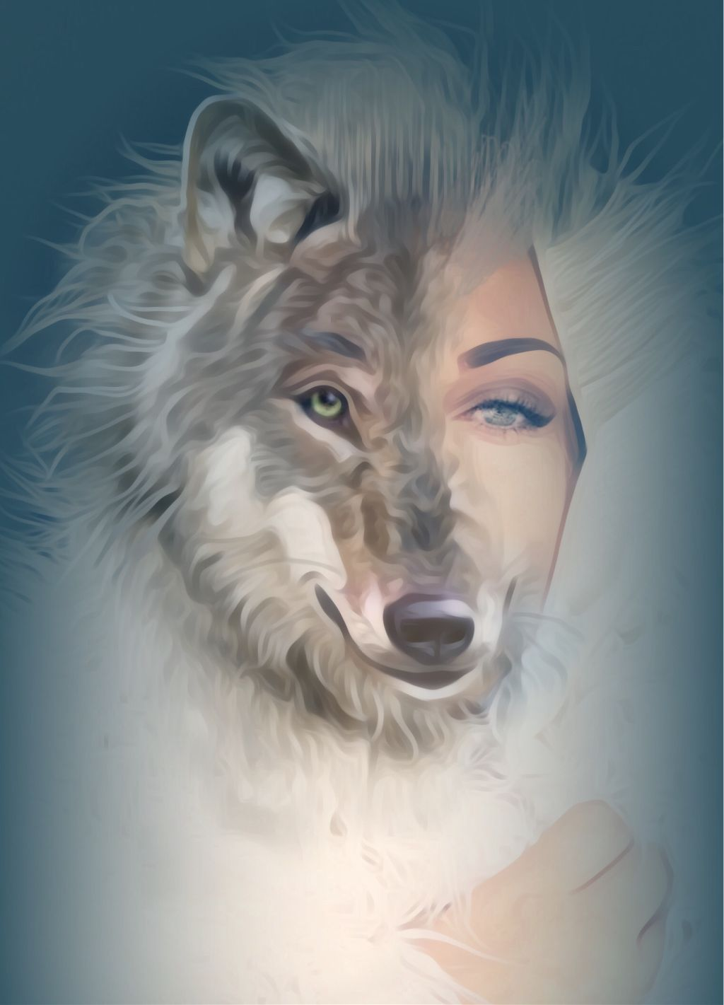 #vipshoutout #surreality  #doubleexposure #wolfqueen #parteditpartdraw #picsart #madewithpicsart @picsart  #freetoedit Congratulations to VIPShoutout Artist Of The Week: @aleda_bandita Please visit her wonderful gallery and share some love. She has many #freetoedit photos that will inspire your imagination👏🌟♥️😊