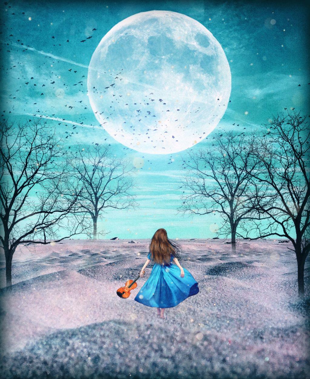 #freetoedit #fantasy #moonart