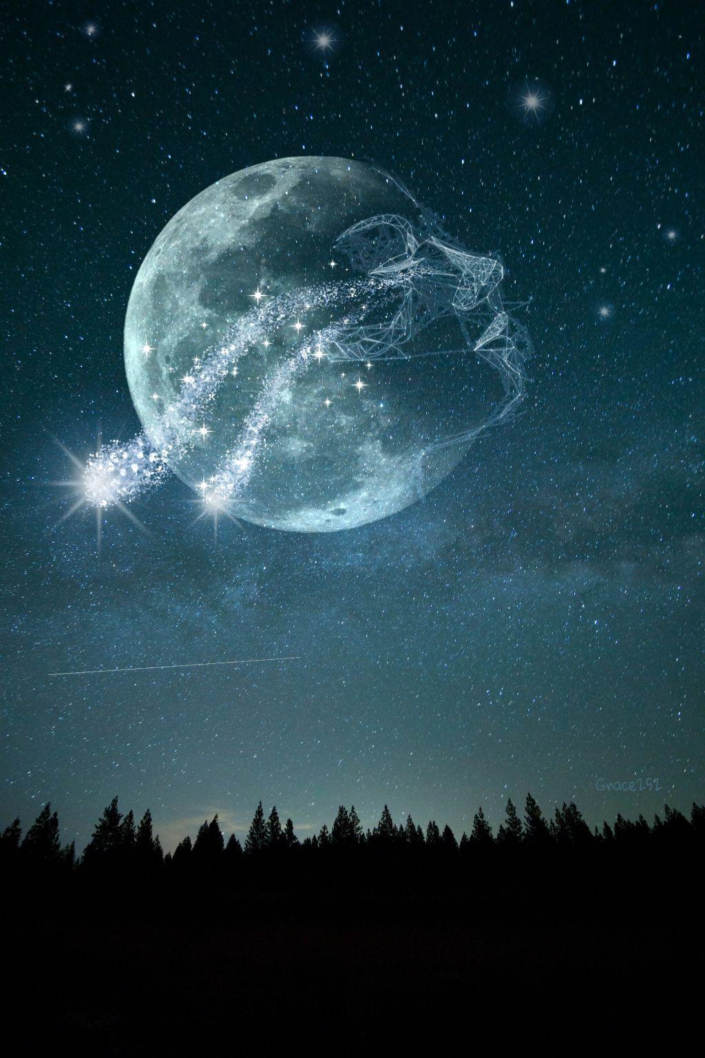 #freetoedit #doubleexposure #moon #sky #polygonart #starrysky Op @freetoedit @lucymy1