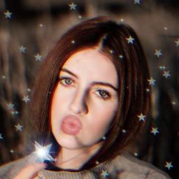 freetoedit woman selfie stars magicbrush