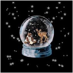 snowglobe deer stars snow freetoedit srcstars
