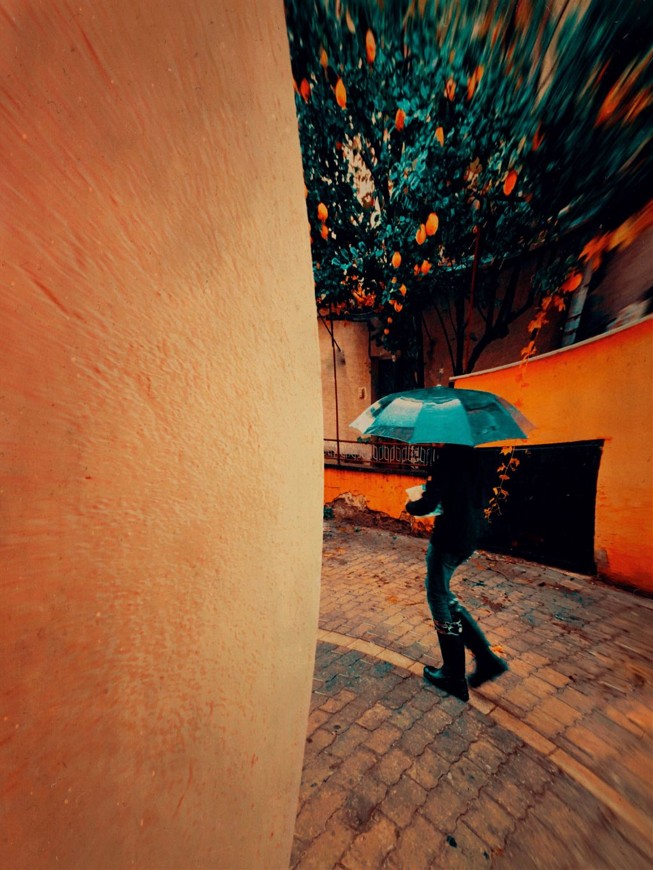 #umbrella #colorful #street
