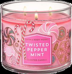 candle candles peppermint bathandbodyworks aesthetic freetoedit